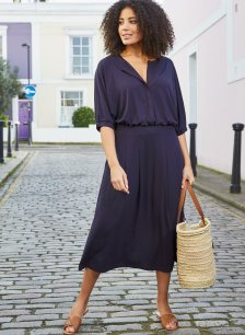 Shop Nanette Dress Classic Navy and more