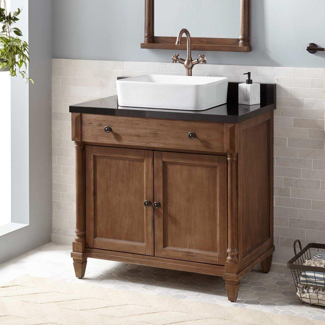 36 Neeson Vessel Sink Vanity Rustic
