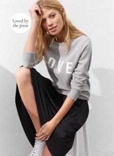 Shop Marte Sweatshirt Mid Grey Marl and more