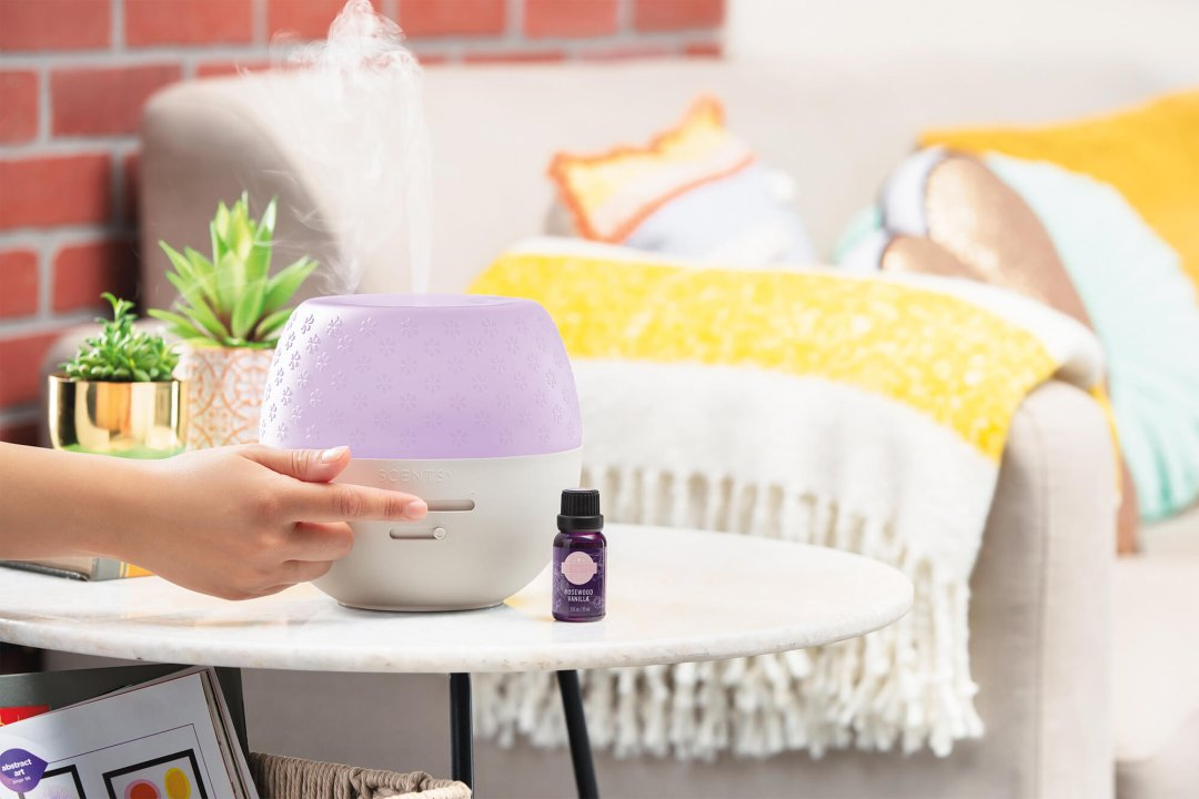 Curated image with Fleur – Gray Deluxe Diffuser, Rosewood Vanilla Natural Oil Blend