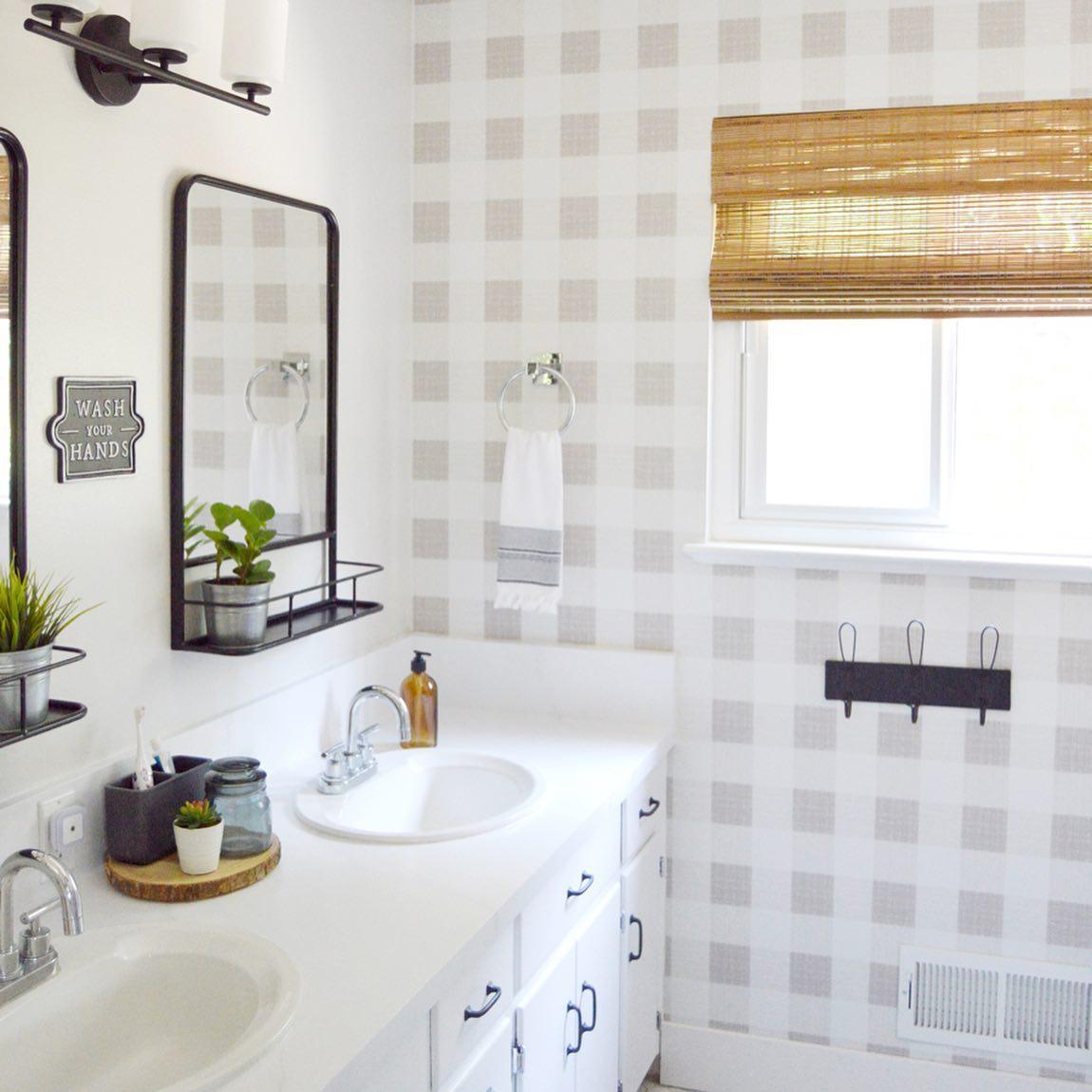 Refreshed modern bathroom Instagram Post