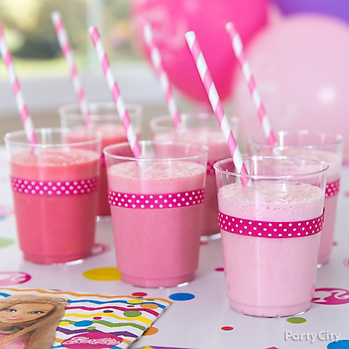 Curated image with Big Party Pack Bright Pink Plastic Cups 72ct, Bright Pink Striped Paper Straws...
