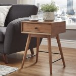 Aksel Brown Wood 1-drawer End Table iNSPIRE Q Modern (Brown), Black