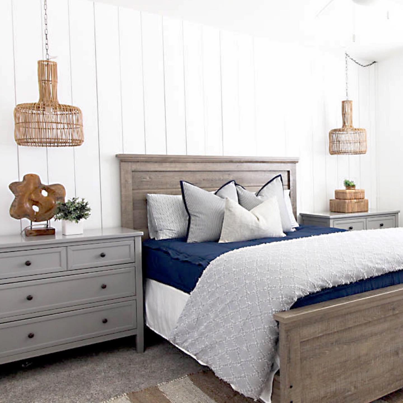 Handsome coastal bedroom Instagram Post