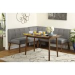 Simple Living 4 piece Playmate Nook Dining Set (Grey)