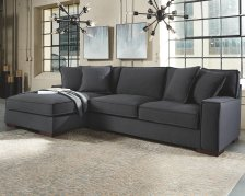 Shop Gamaliel 2-Piece Sectional with Chaise, Charcoal and more
