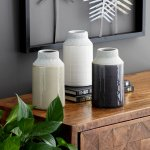Carson Carrington Andalsnes 3-piece White/ Grey Ceramic Vase Set