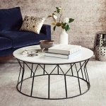 "Safavieh Mid-Century Deion Lacquer Coffee Table - 35.4"" x 35.4"" x 15.8"" , Black"