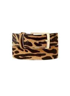 Shop Baukjen Animal Belt Zebra Print Leather and more