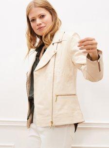 Shop Kara Leather Jacket Stone and more