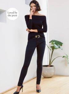 Shop Wren Skinny Jean Caviar Black and more