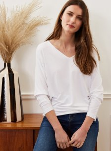 Shop Ella Top with LENZING™ ECOVERO™ Pure White and more