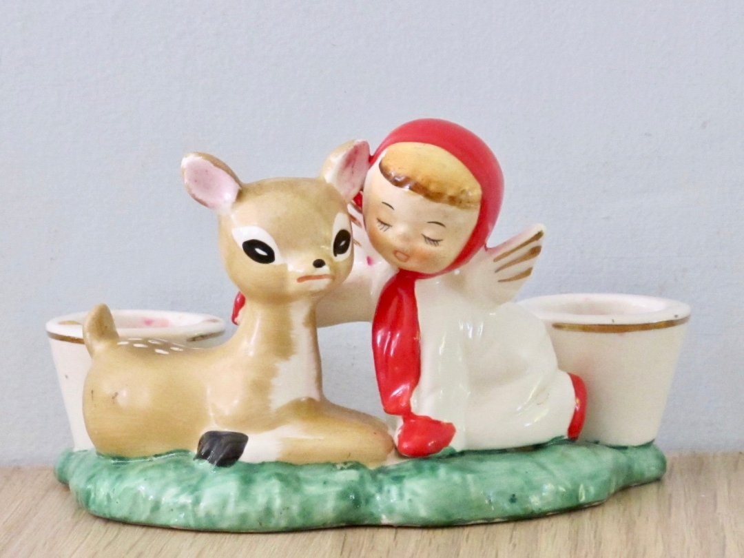 Curated image with 1950s Holt Howard candle holder from Vintage Beach Kids, $48