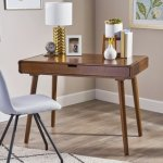 Peninah Mid Century Faux Rubberwood Writing Desk by Christopher Knight Home (Rubberwood - Medium Brown - Writing Desks)