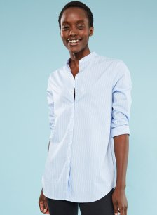 Shop Alex Shirt Light Blue & White Stripe and more