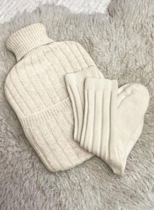 Shop Eco Cashmere Hot Water Bottle Cover and more