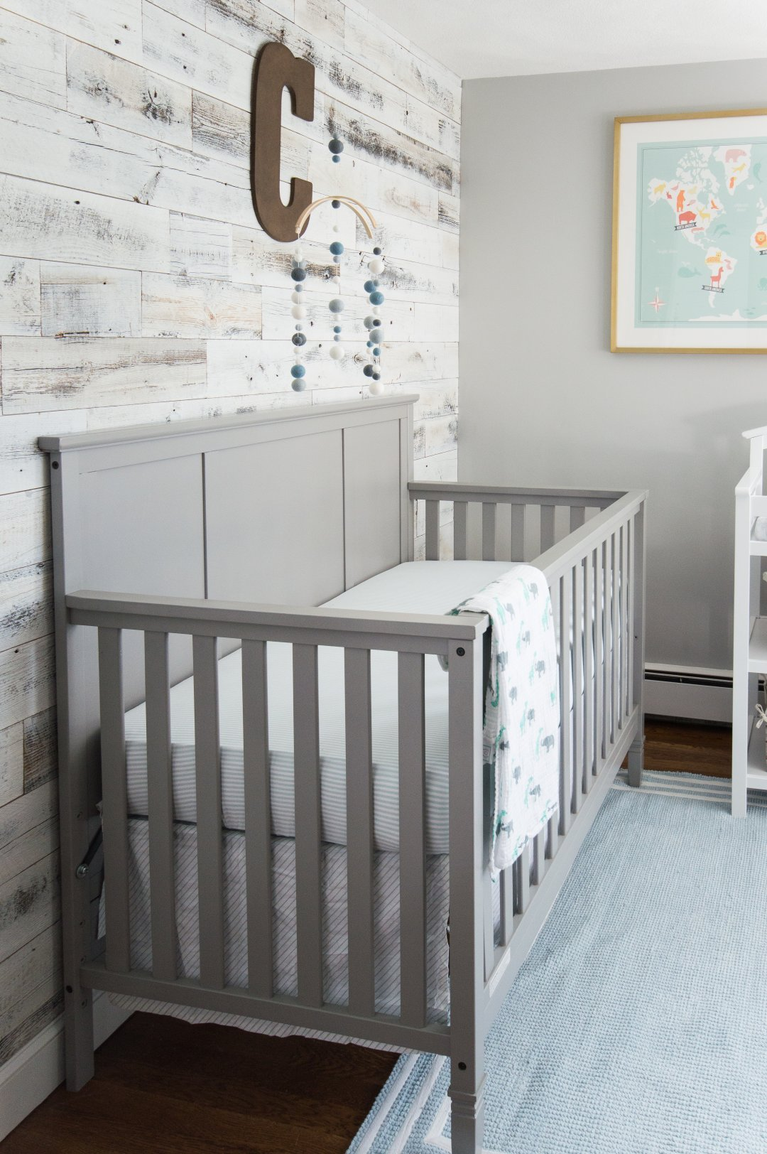 Baby Boy Nursery Reveal: A Modern Industrial Bue & Gray Nursery