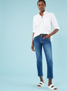 Shop The Organic Boyfriend Jean Indigo and more