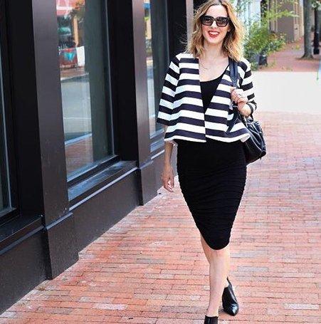 Shop Isabella Oliver Ellis Maternity Tank Dress-Caviar Black and more
