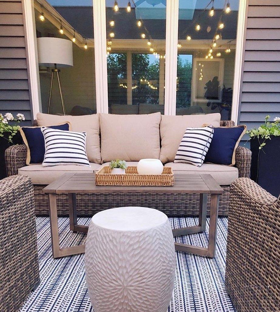 Nautical natural patio Instagram Post