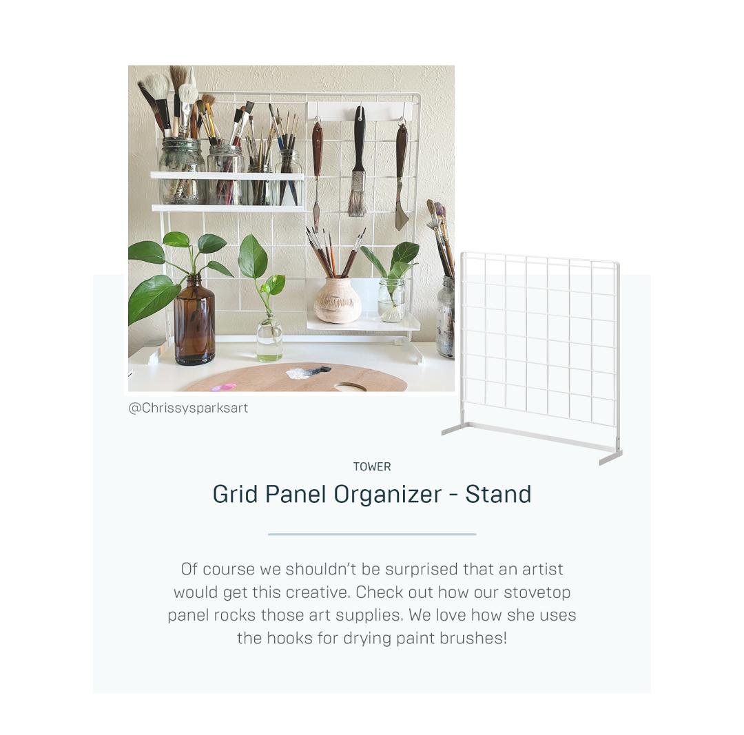 Grid Panel Organizer Stand