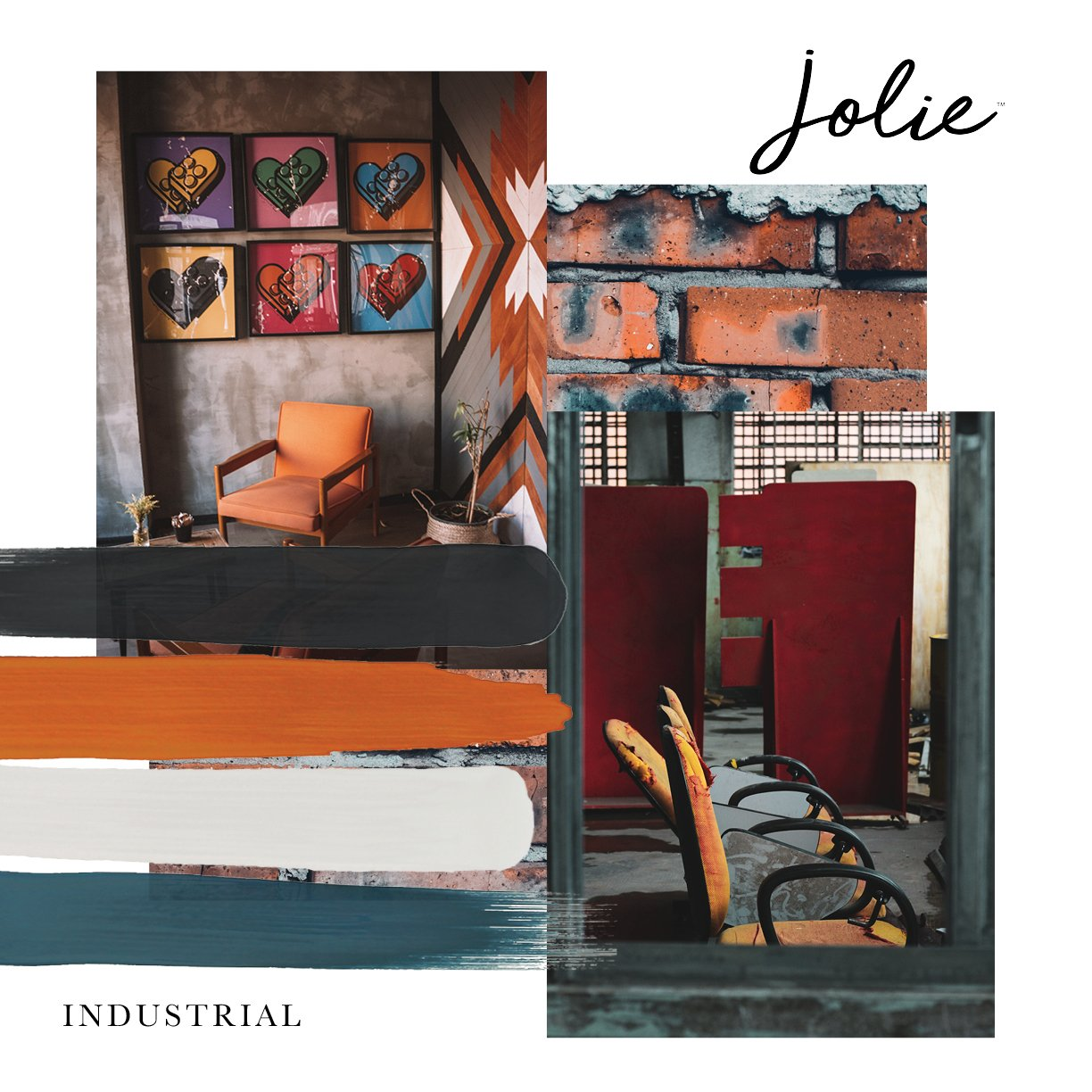Curated image with Graphite | Jolie Paint, Urban Orange | Jolie Paint, Gesso White | Jolie Paint,...