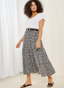Shop Ianthe Skirt Black Spring Floral Print and more
