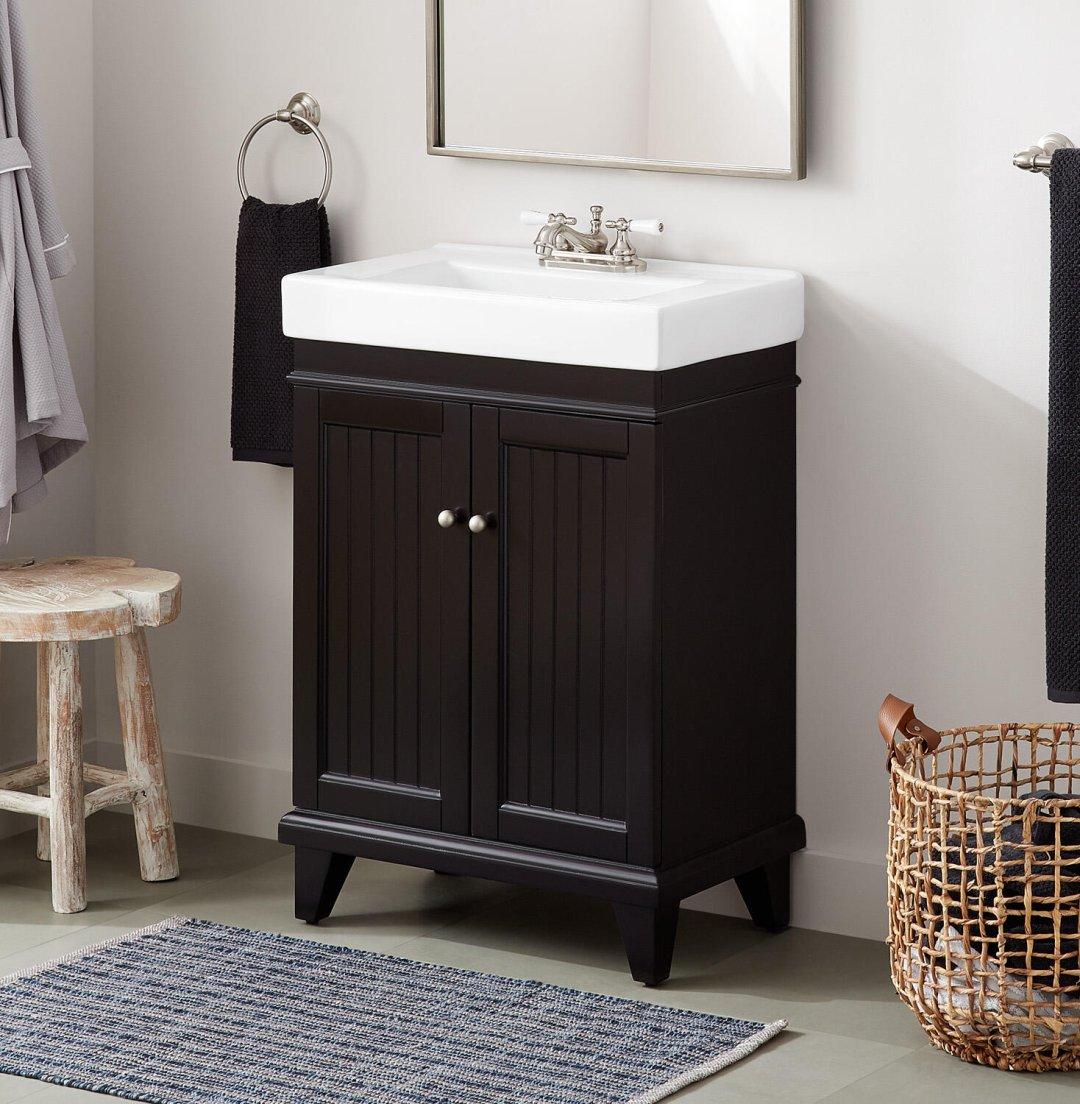24 Layne Black Vanity And Sink Vanities