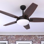Honeywell Carmel Bronze Ceiling Fan with Integrated Light and Remote - 48-inch (Bronze - Hardwired), Brown