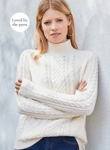 Shop Margot Cable Jumper Cream and more