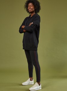 Shop Abbey Organic Cotton Leggings Caviar Black & Redwood and more