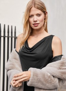 Shop Magda Dress Caviar Black and more