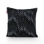 Acton Modern Fabric Throw Pillow Cover (No Filling) by Christopher Knight Home (Black)(Cotton, Abstract)