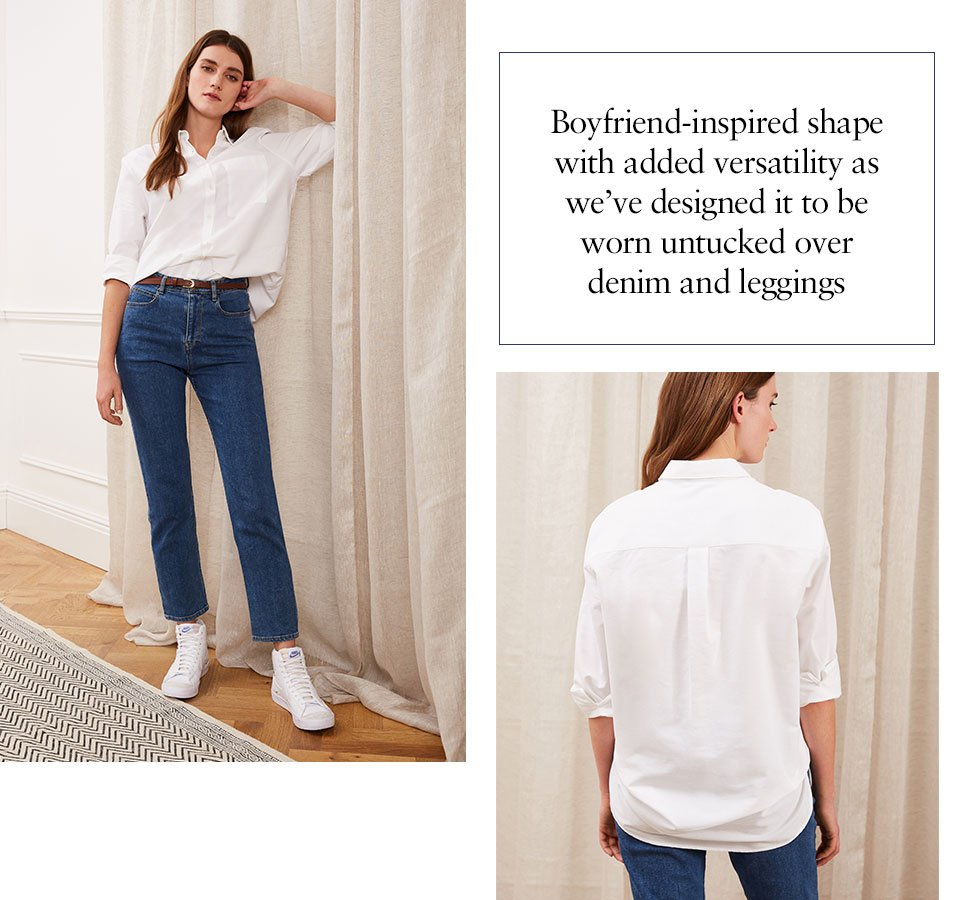 Shop Caitly Organic Shirt Pure White, The Organic Girlfriend Jean Washed Blue, Baukjen Leather Skinny Belt Brown and more