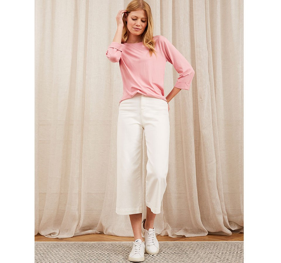 Shop Gail Jean Off White, Marnie Top with LENZING™ ECOVERO™ and more