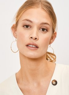 Shop Vivienne Earrings Gold and more