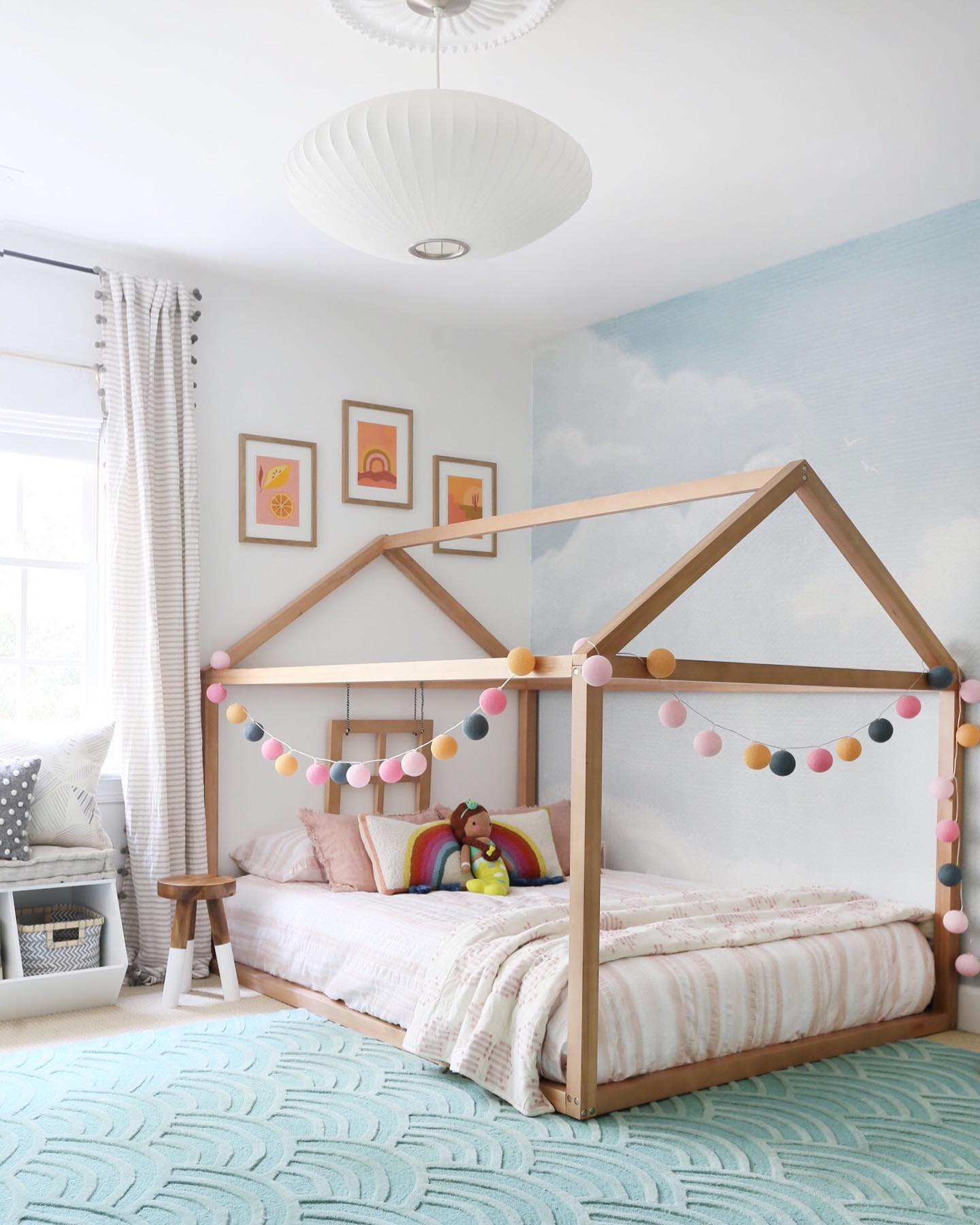 Dreamy colorful kids' room Instagram Post