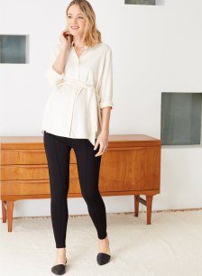 Shop Isabella Oliver Over the Bump Maternity Treggings-Caviar Black and more
