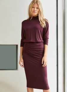 Shop Maxwell Dress Darkest Fig and more