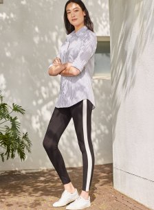 Shop Jayde Leggings Caviar Black with Soft White and more