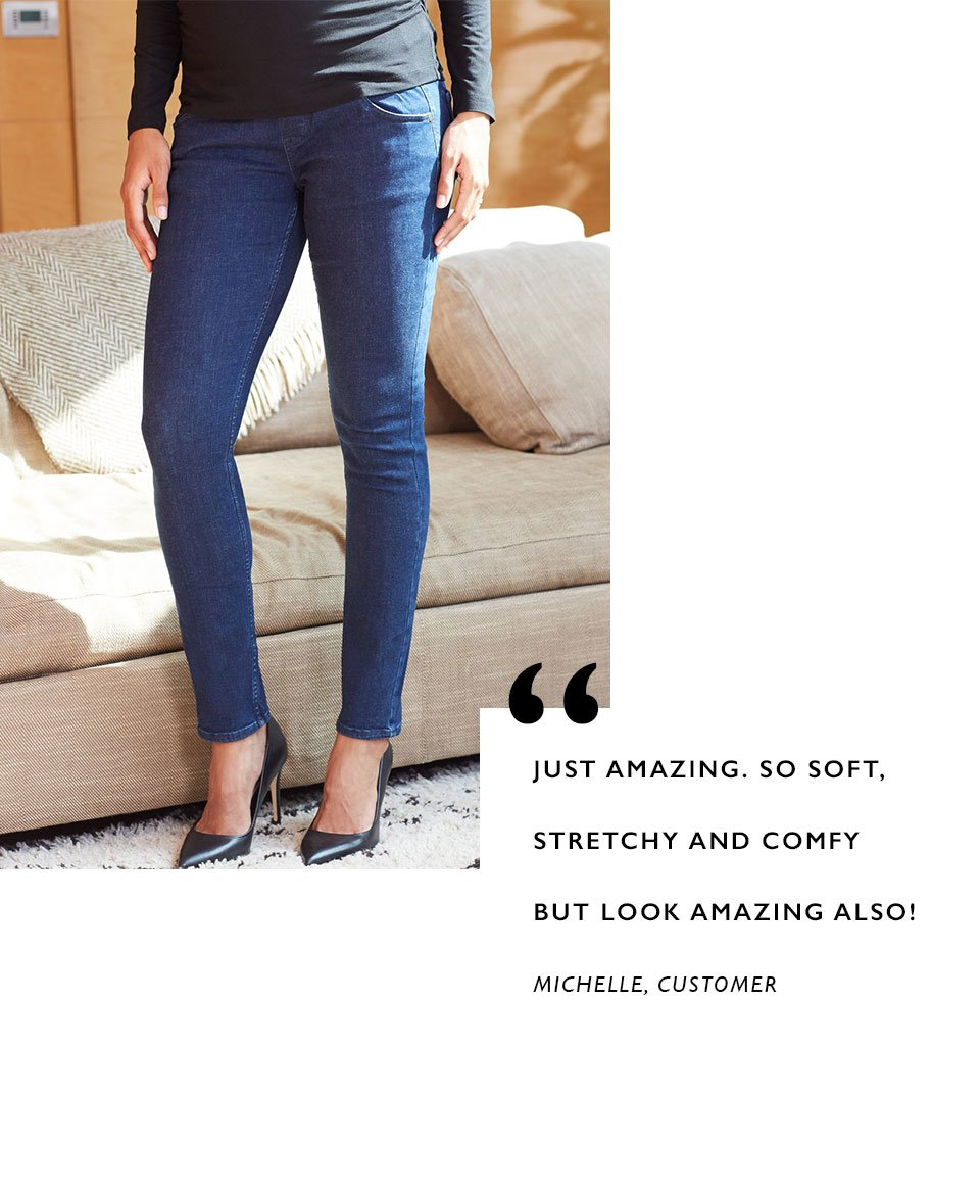 Shop Isabella Oliver Super Stretch Maternity Skinny Jean-Indigo and more
