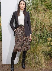 Shop Alanah Skirt Caramel Leopard Print and more