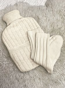 Shop Eco Cashmere Hot Water Bottle Cover Winter White and more
