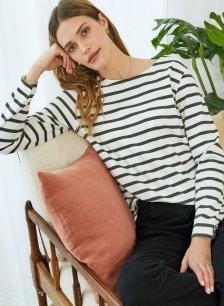 Shop Ashley Organic Cotton Top Soft White & Khaki and more
