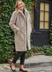 Shop Leia Coat Oyster and more