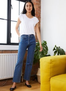 Shop Catherine Upcycled Top Pure White and more