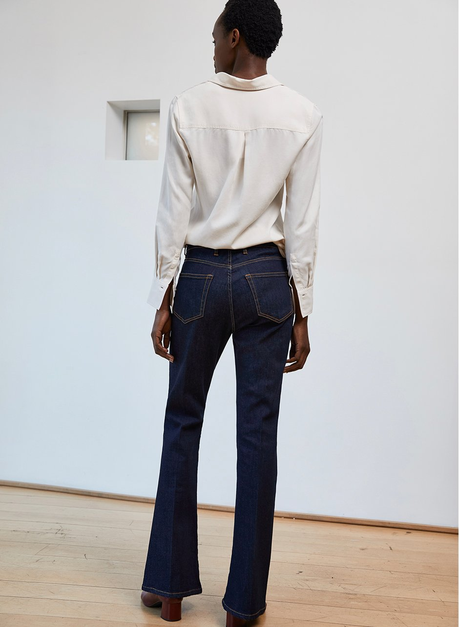 Shop Elena Shirt Cream, Frankie Jean Darkest Indigo and more