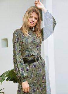 Shop Juliet Dress Khaki Saraca Floral and more