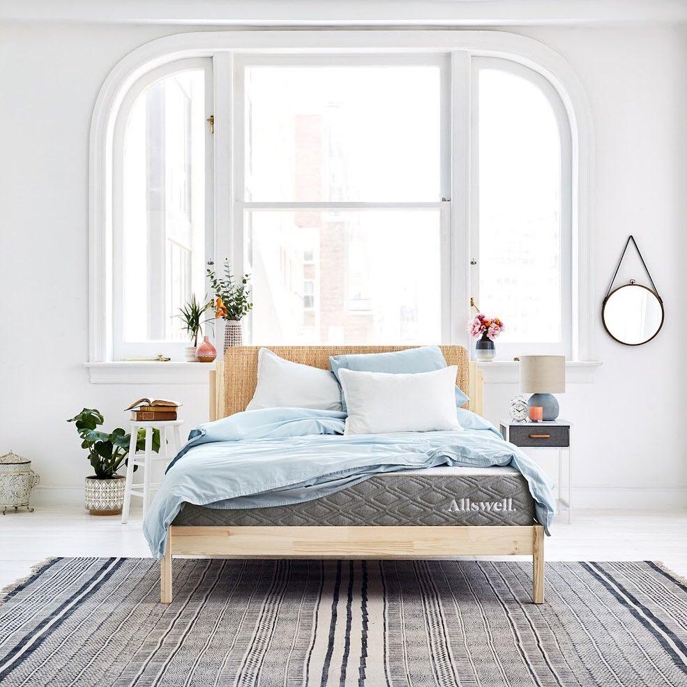 Refreshed natural bedroom Instagram Post