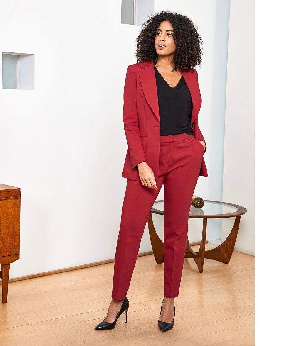 Shop Rio Jacket Crimson Red, Rio Trouser Crimson Red, Ella Top and more
